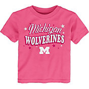 Gen2 Toddler Girls' Michigan Wolverines Pink My Team T-Shirt