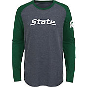 Gen2 Youth Michigan State Spartans Grey First String Long Sleeve T-Shirt