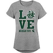 Gen2 Youth Girls' Michigan State Spartans Grey Pom Pom Love T-Shirt