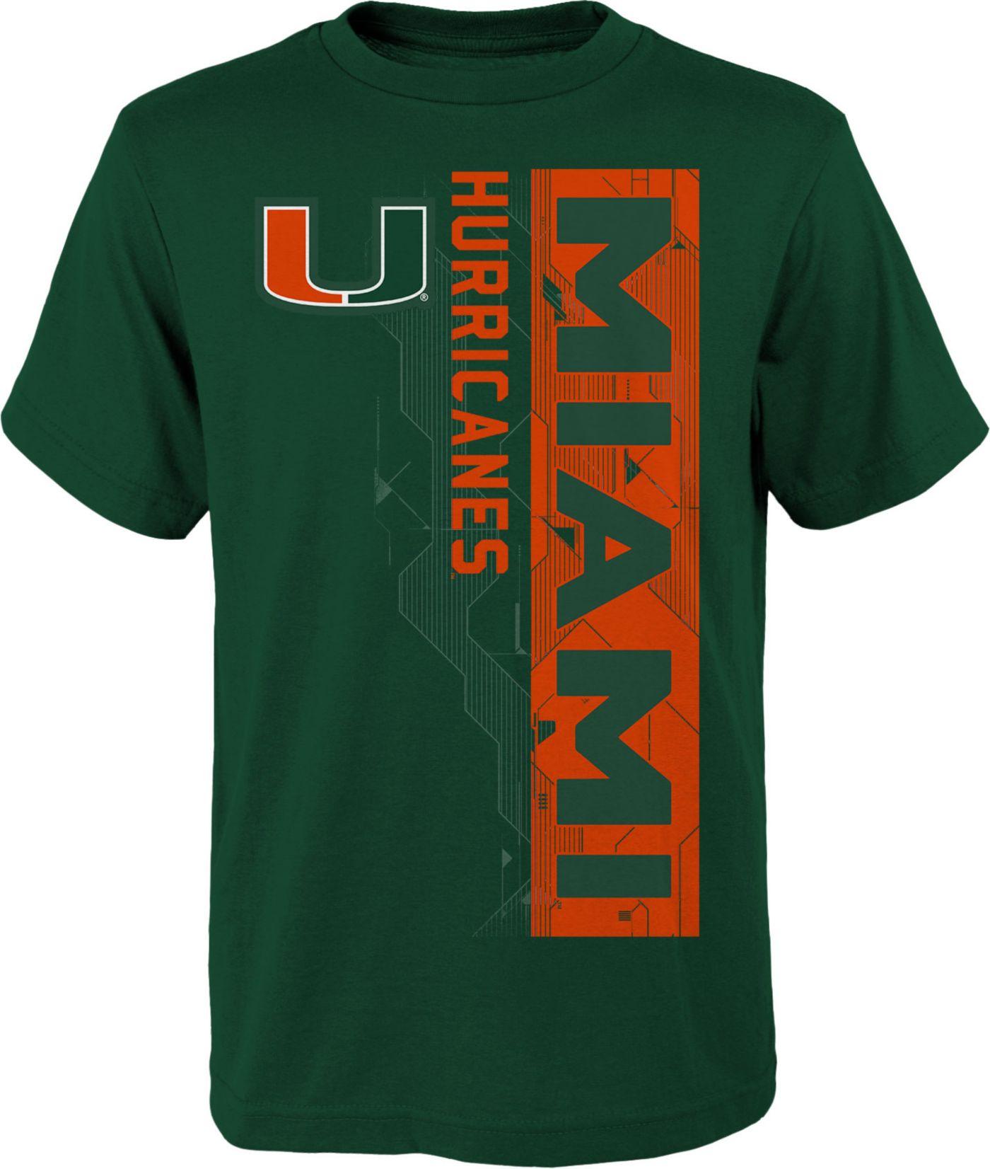 Gen2 Boys' Miami Hurricanes Green Challenger T-Shirt