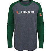 Gen2 Youth Miami Hurricanes Grey First String Long Sleeve T-Shirt
