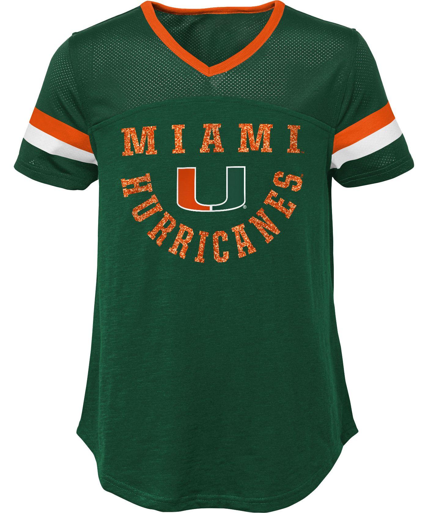Gen2 Girls' Miami Hurricanes Orange Game Plan T-Shirt