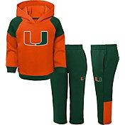 Gen2 Toddler Boys' Miami Hurricanes Orange/Green Sideline 2-Piece Fleece Set