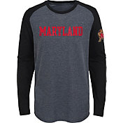Gen2 Youth Maryland Terrapins Grey First String Long Sleeve T-Shirt