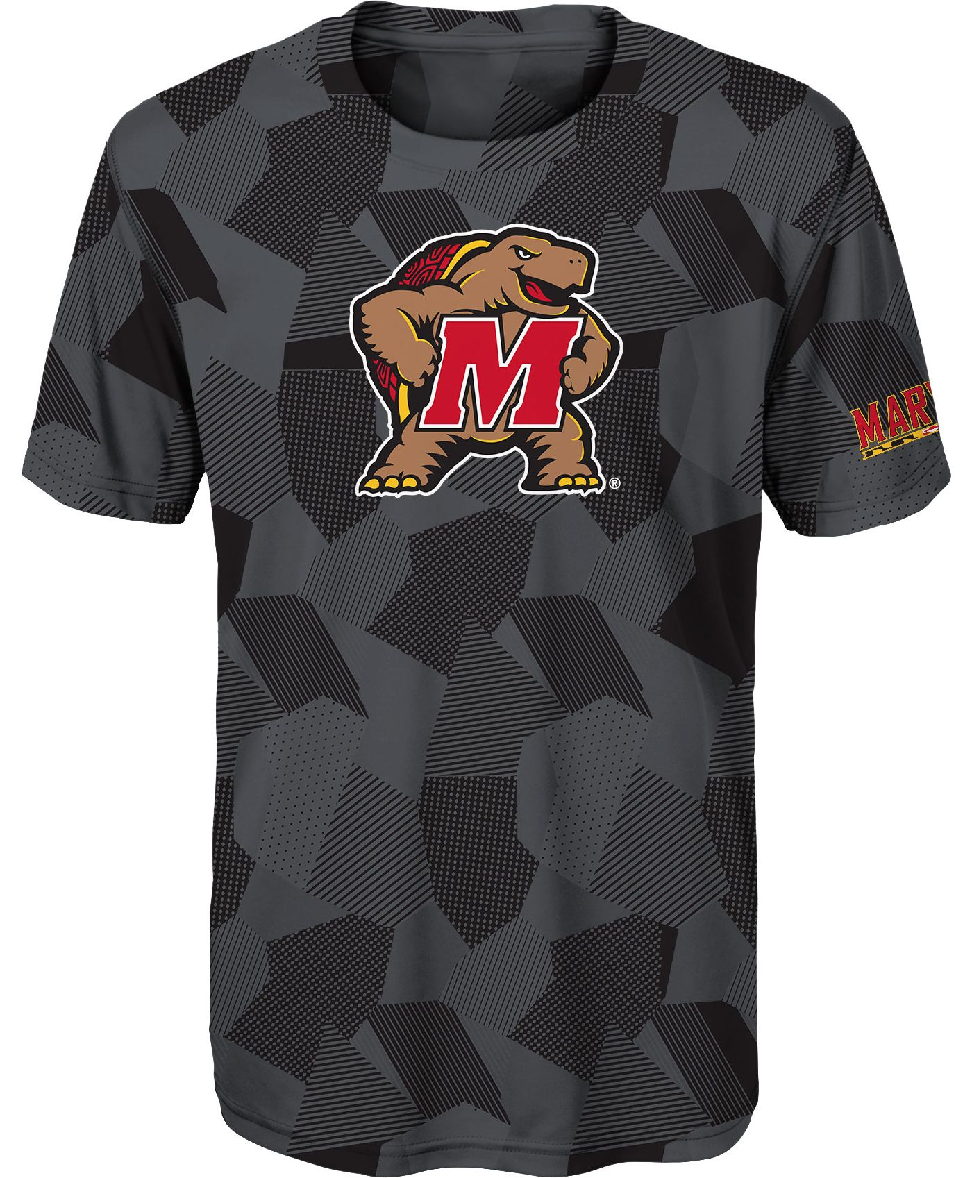 Gen2 Youth Boys' Maryland Terrapins Grey Sublimated Print Stadium T-Shirt