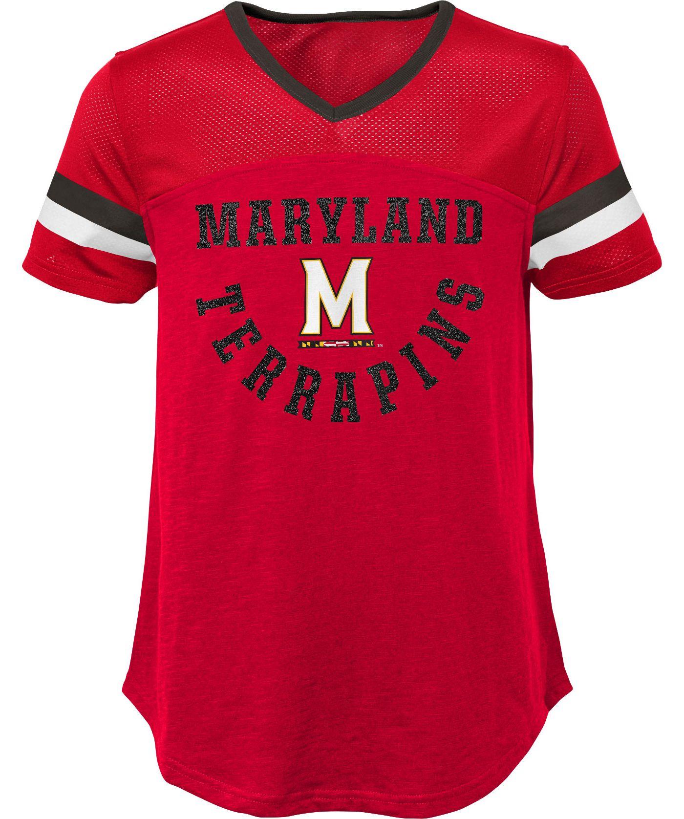 Gen2 Girls' Maryland Terrapins Red Game Plan T-Shirt