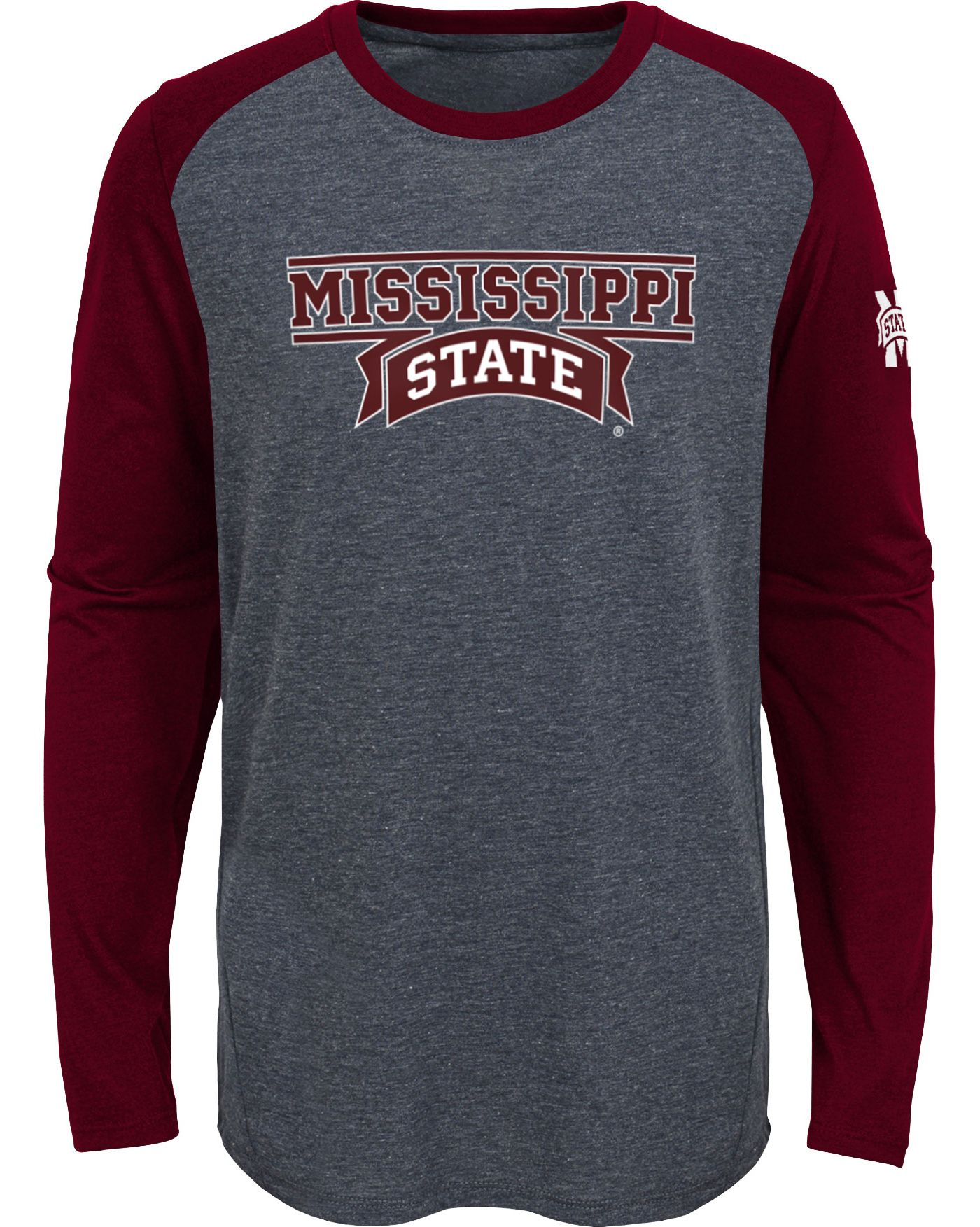Gen2 Youth Mississippi State Bulldogs Grey First String Long Sleeve T-Shirt