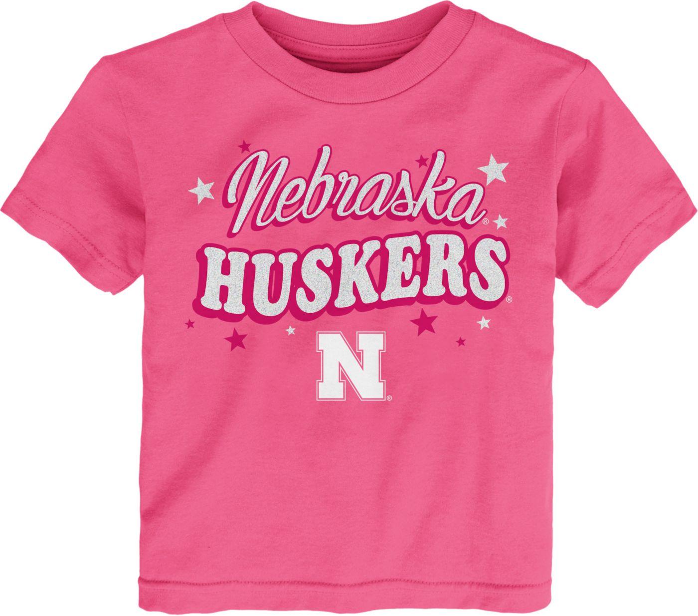 Gen2 Toddler Girls' Nebraska Cornhuskers Pink My Team T-Shirt