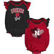 Gen2 Infant Nebraska Cornhuskers Scarlet Celebration 2-Piece Onesie Set