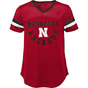 Gen2 Girls' Nebraska Cornhuskers Scarlet Game Plan T-Shirt