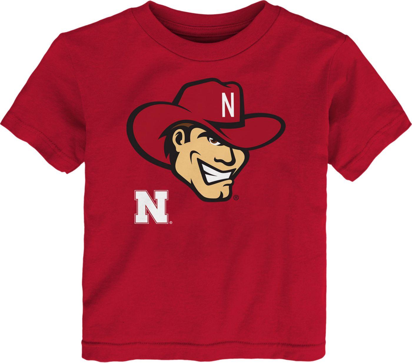 Gen2 Toddler Nebraska Cornhuskers Scarlet Headshot T-Shirt