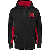 Gen2 Youth Nebraska Cornhuskers Full-Zip Performance Black Hoodie