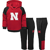 Gen2 Toddler Boys' Nebraska Cornhuskers Scarlet/Black Sideline 2-Piece Fleece Set