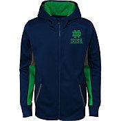 Gen2 Youth Notre Dame Fighting Irish Navy Full-Zip Performance Hoodie