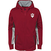 Gen2 Youth Indiana Hoosiers Crimson Full-Zip Performance Hoodie
