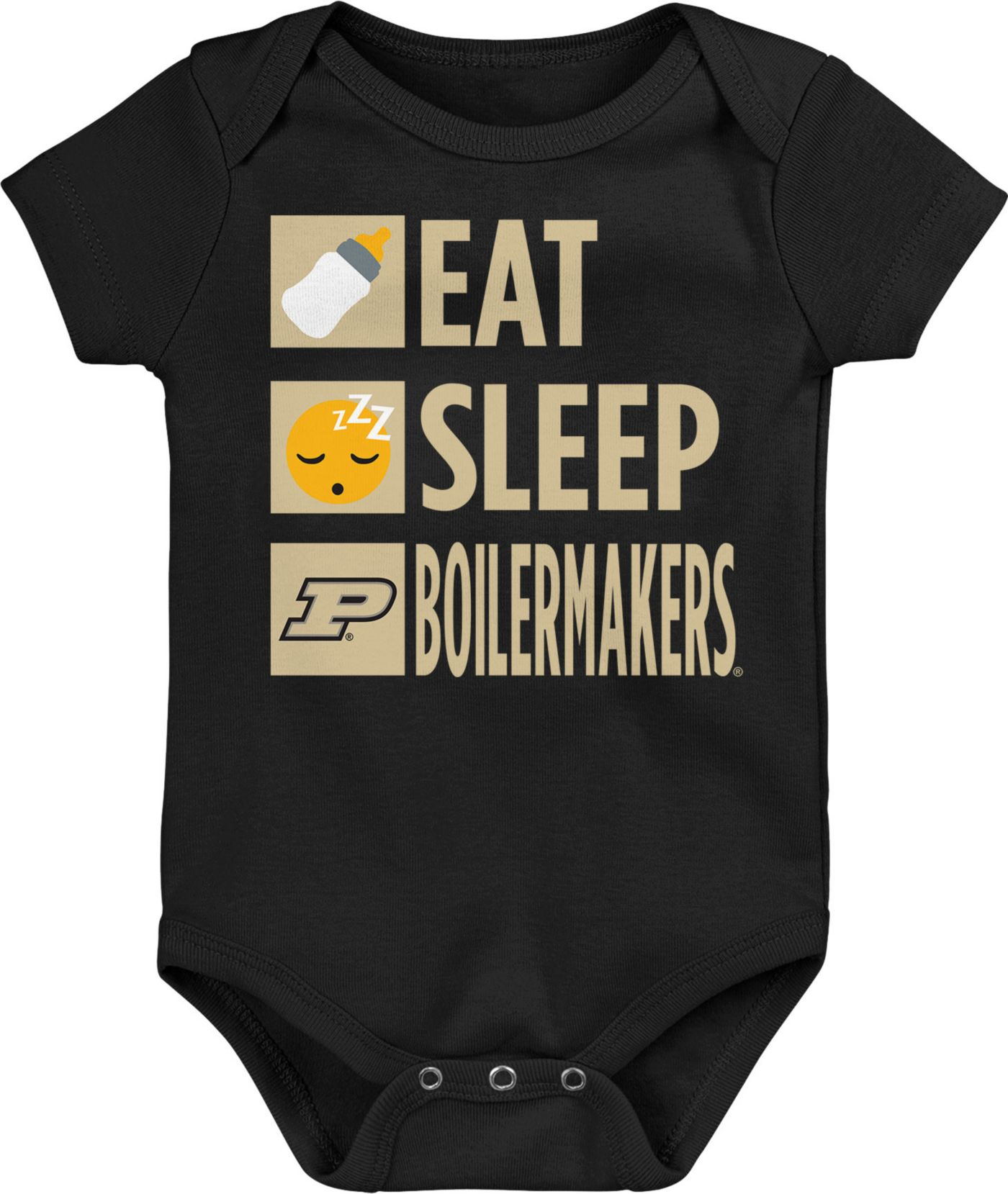 Gen2 Infant Purdue Boilermakers Daily Agenda Black Creeper