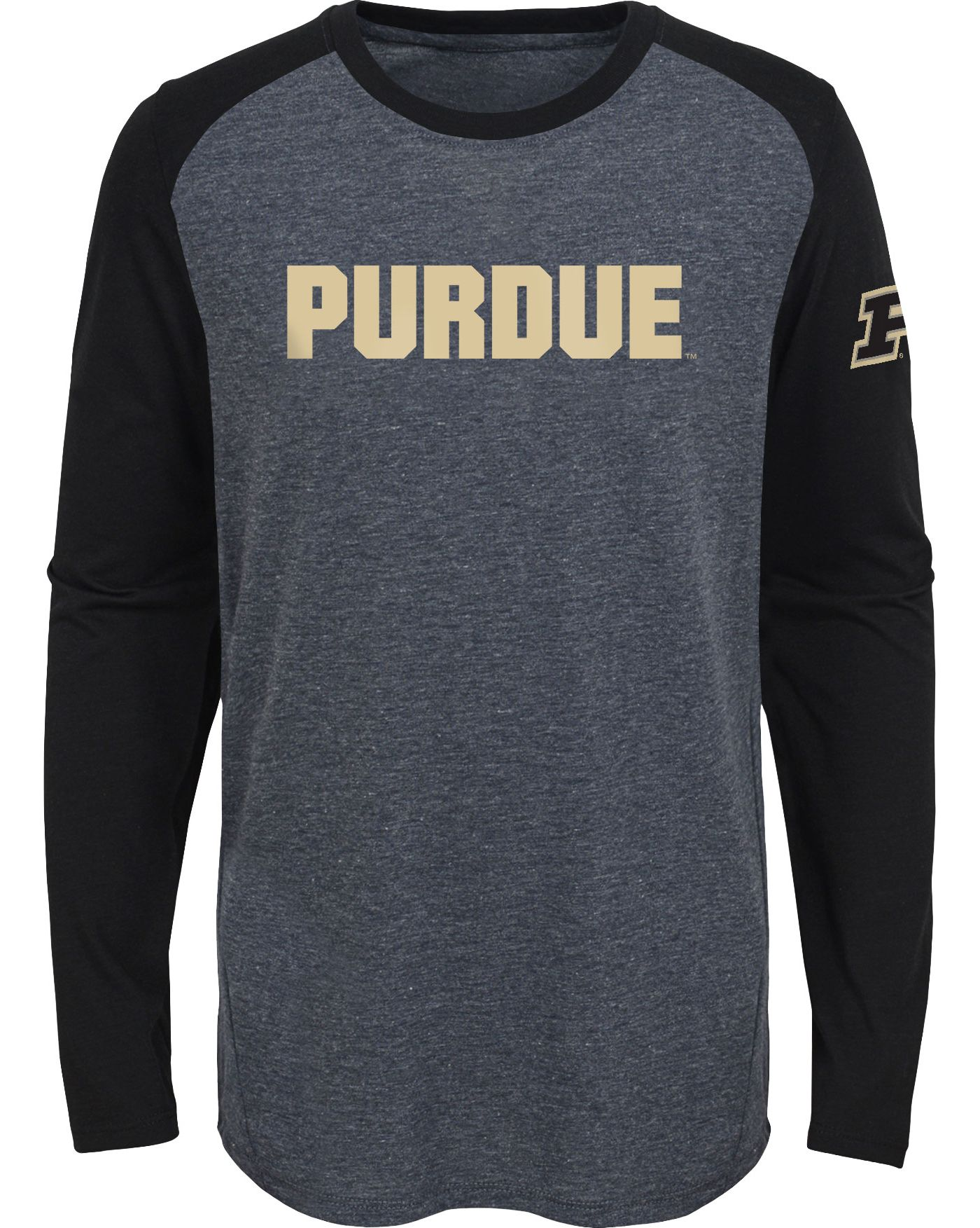 Gen2 Youth Purdue Boilermakers Grey First String Long Sleeve T-Shirt
