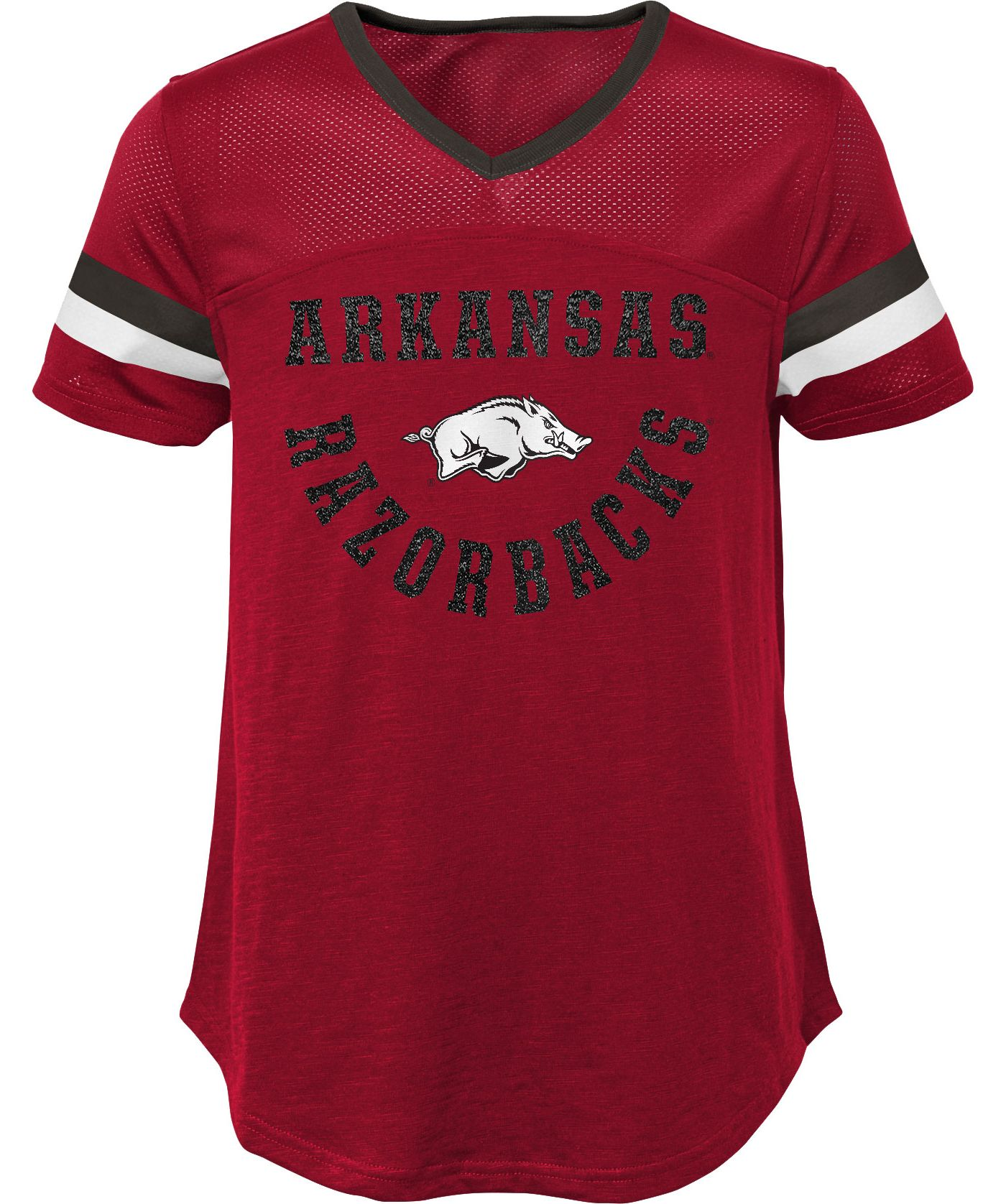 Gen2 Girls' Arkansas Razorbacks Cardinal Game Plan T-Shirt