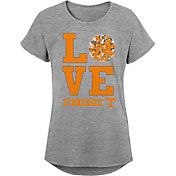 Gen2 Youth Girls' Tennessee Volunteers Grey Pom Pom Love T-Shirt