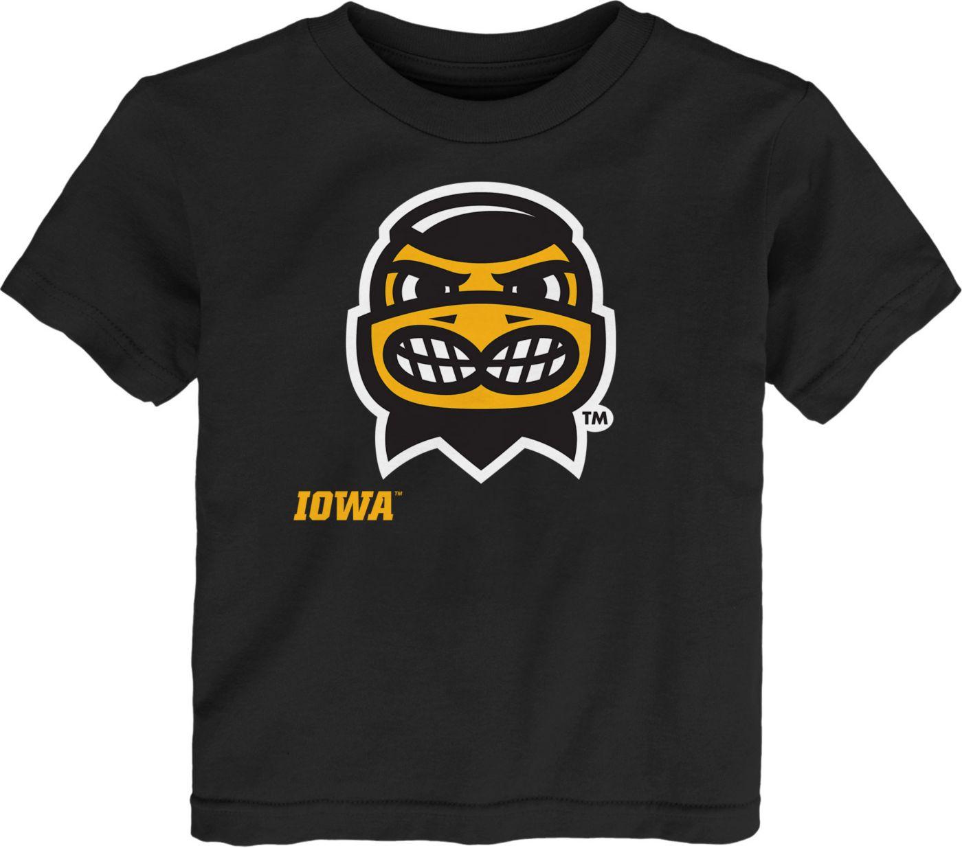 Gen2 Toddler Iowa Hawkeyes Headshot Black T-Shirt