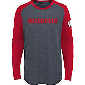 Gen2 Youth Wisconsin Badgers Grey First String Long Sleeve T-Shirt