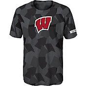 Gen2 Boys' Wisconsin Badgers Grey Sublimated Print Stadium T-Shirt