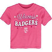 Gen2 Toddler Girls' Wisconsin Badgers Pink My Team T-Shirt