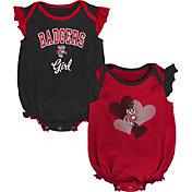 Gen2 Infant Wisconsin Badgers Red Celebration 2-Piece Onesie Set