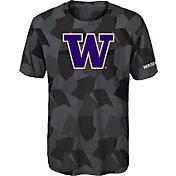 Gen2 Boys' Washington Huskies Grey Sublimated Print Stadium T-Shirt