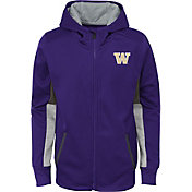 Gen2 Youth Washington Huskies Purple Full-Zip Performance Hoodie