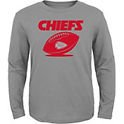 NFL Team Apparel Youth Kansas City Chiefs Equip Snap Grey Long Sleeve Shirt