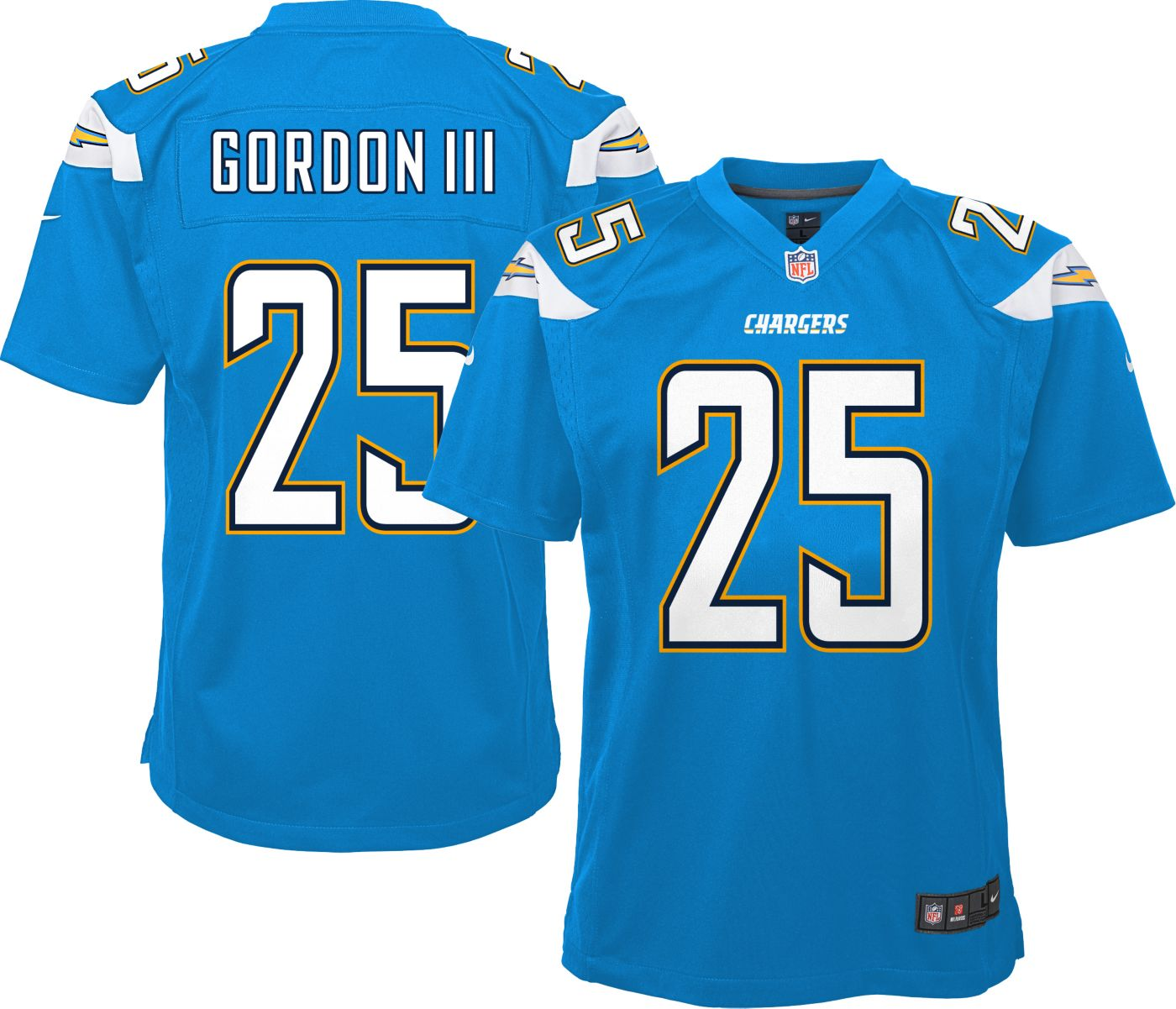 Nike Youth Home Game Jersey Los Angeles Chargers Melvin Gordon #25