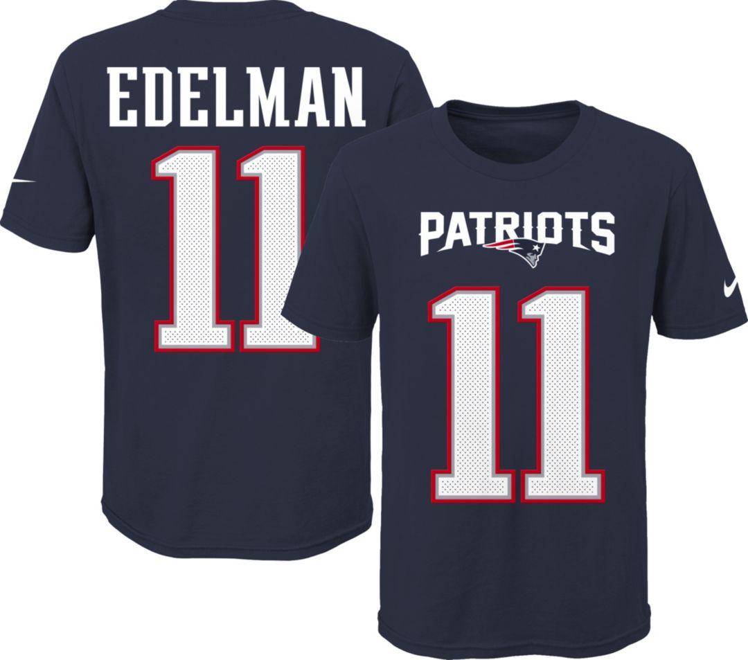brand new b9ed2 f37b4 Nike Youth New England Patriots Julian Edelman #11 Pride Player Navy T-Shirt
