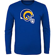 NFL Team Apparel Youth Los Angeles Rams Retro Logo Royal Long Sleeve Shirt