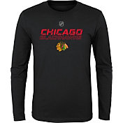 NHL Youth Chicago Blackhawks Prime Stock Black Long Sleeve Shirt