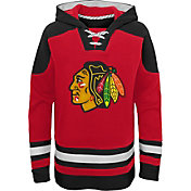 NHL Youth Chicago Blackhawks Ageless Red Pullover Hoodie