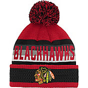 NHL Youth Chicago Blackhawks Cuff Pom Knit Beanie