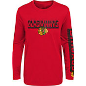 NHL Youth Chicago Blackhawks Slap Shot Red Long Sleeve Shirt