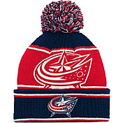 NHL Youth Columbus Blue Jackets Grind Cuff Pom Knit Beanie