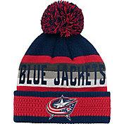 NHL Youth Columbus Blue Jackets Cuff Pom Knit Beanie