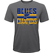 NHL Youth 2019 NHL Western Conference Champions St. Louis Blues Front T-Shirt