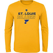 NHL Youth St. Louis Blues Prime Stock Gold Long Sleeve Shirt