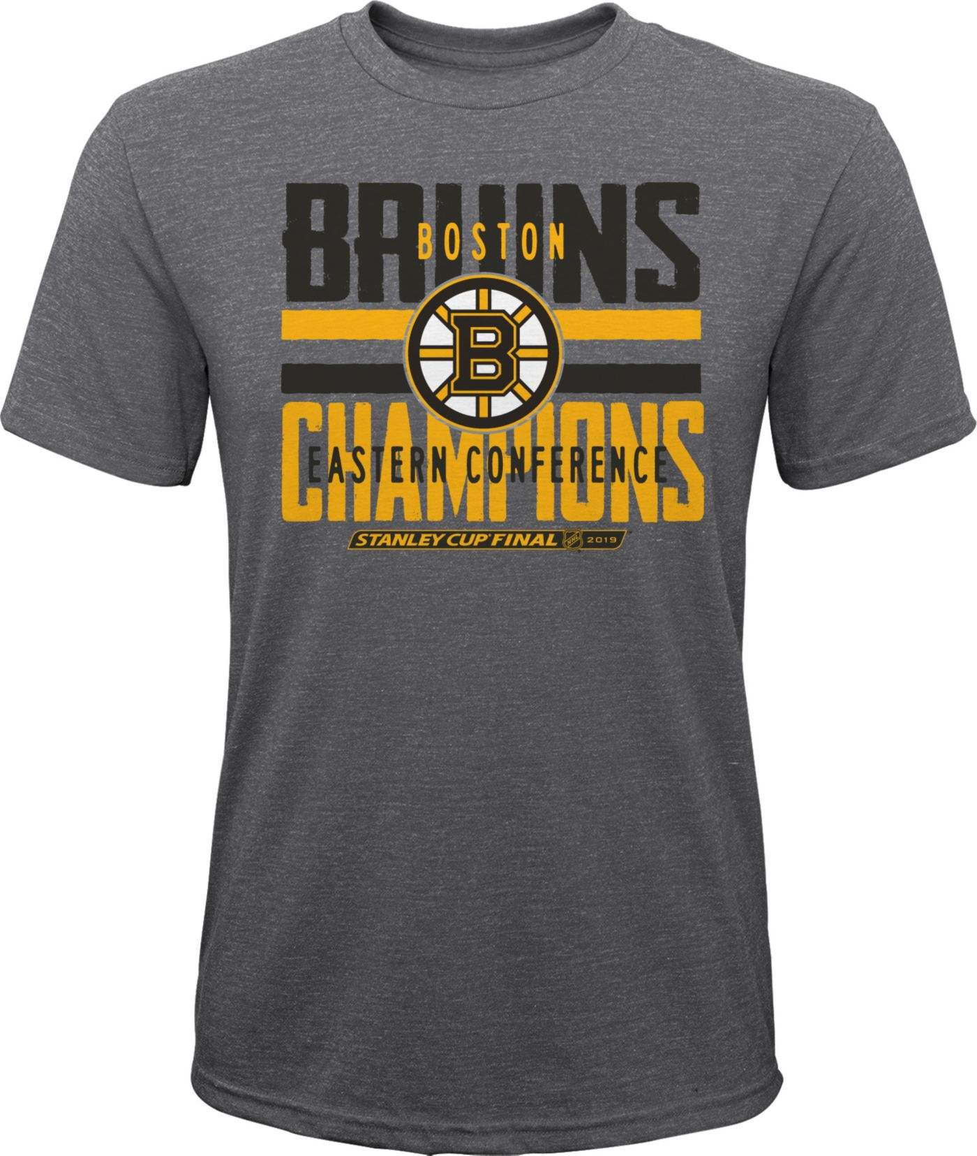 NHL Youth 2019 NHL Eastern Conference Champions Boston Bruins Front T-Shirt