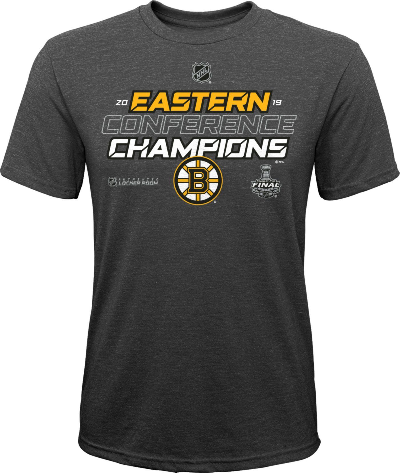 NHL Youth 2019 NHL Eastern Conference Champions Boston Bruins Locker Room T-Shirt