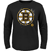 NHL Youth Boston Bruins Deconstructed Black Long Sleeve Shirt