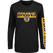 NHL Youth Boston Bruins Slap Shot Black Long Sleeve Shirt