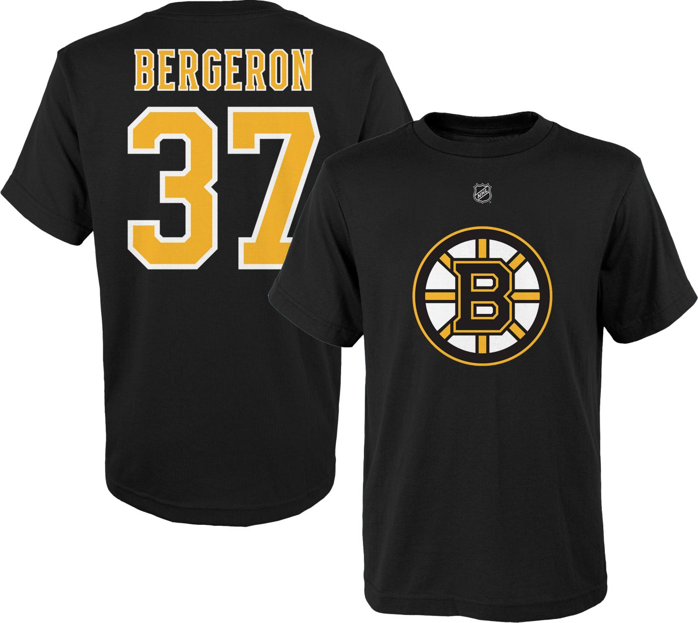 NHL Youth Boston Bruins Patrice Bergeron #37 Black Player T-Shirt