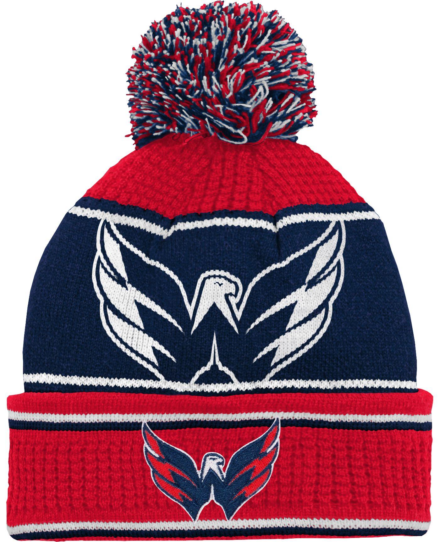 NHL Youth Washington Capitals Grind Cuff Pom Knit Beanie