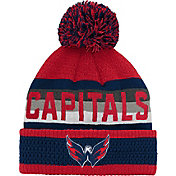 NHL Youth Washington Capitals Cuff Pom Knit Beanie