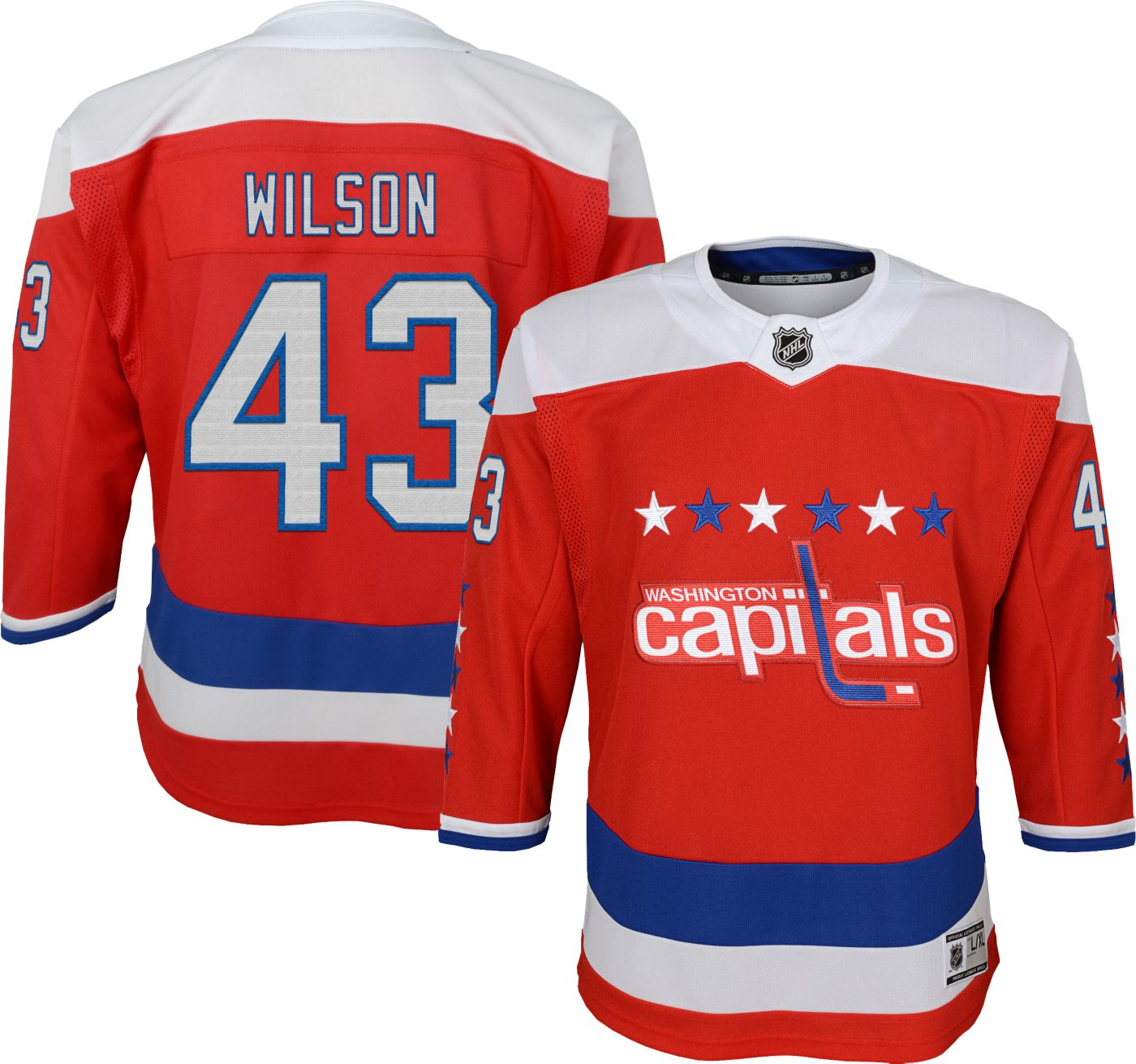 NHL Youth Washington Capitals Tom Wilson #43 Premier Alternate Jersey